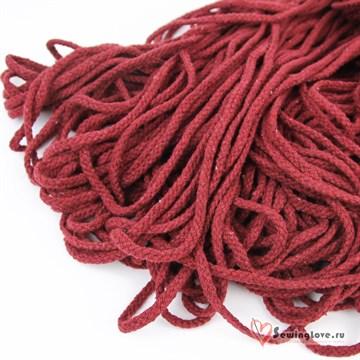 Шнур плетеный круглый 6 мм, Бордовый