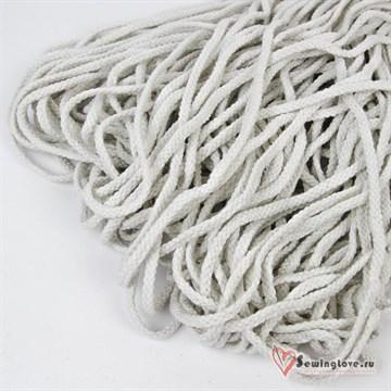 Шнур плетеный круглый 6 мм, Белый