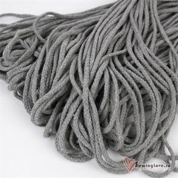 Шнур плетеный круглый 6 мм, Серый меланж