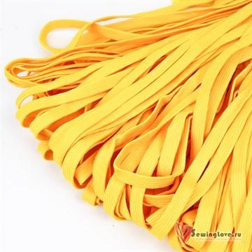 Шнур плетеный плоский 12 мм, Жёлтый