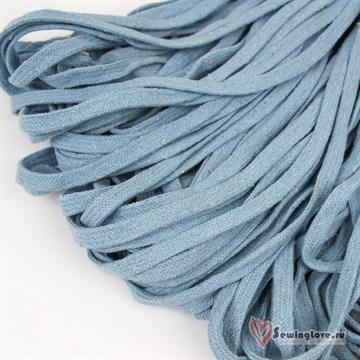 Шнур плетеный плоский 8 мм, Светло-голубой