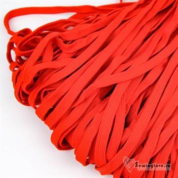 Шнур плетеный плоский 12 мм, Красный