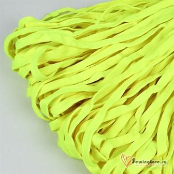 Шнур плетеный плоский 12 мм, Лимон