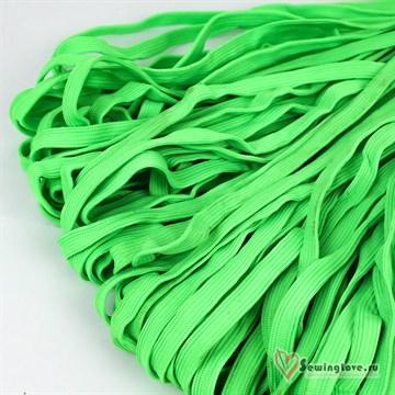 Шнур плетеный плоский 12 мм, Салатовый