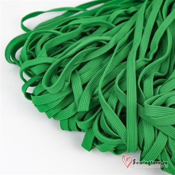 Шнур плетеный плоский 12 мм, Зелёный