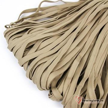 Шнур плетеный плоский 12 мм, Бежевый