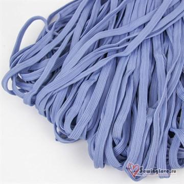 Шнур плетеный плоский 12 мм, Голубой
