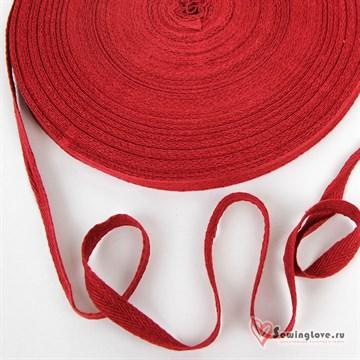 Тесьма киперная, 10 мм, хлопок, Красный