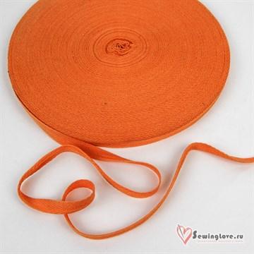 Тесьма киперная, 10 мм, хлопок, Оранжевый