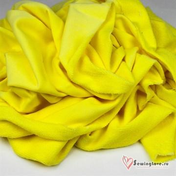 Футер 3-х петля Освещающий жёлтый велюр.эффект