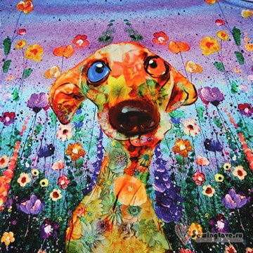 Кулир Собака в цветах, купон