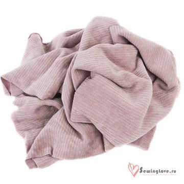 Трикотажный вельвет Розовый рассвет