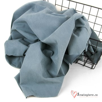 Ткань курточная LOKKER с эффектом замши. Пыльно-синий